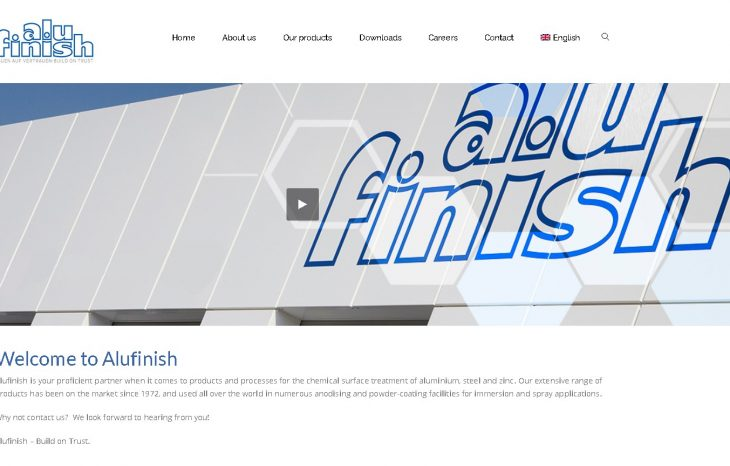 New designed Alufinish website online