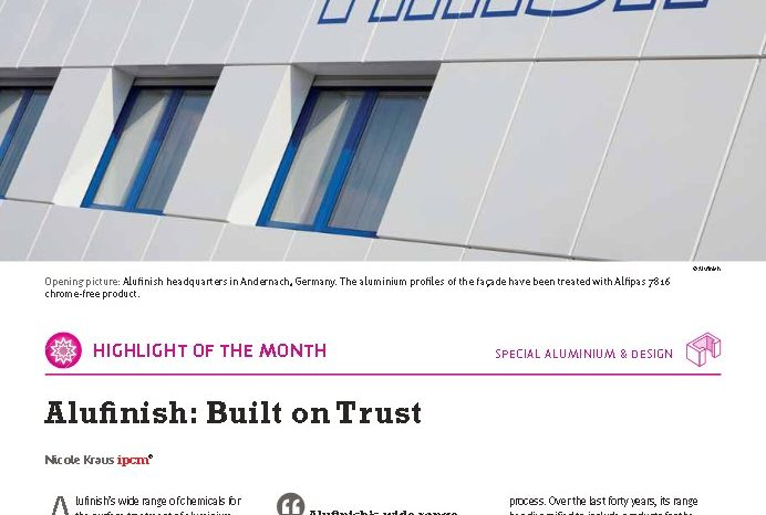 Alufinish : Built on Trust – Interview im aktuellen ipcm® Magazin